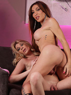 Eva and angelina Lusty tgirls Eva & Angelina playing. Eva Paradis, Angelina Torres.