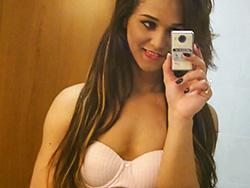 Teenager felipa lins selfie. Elegant Felipa poses, strips & plays