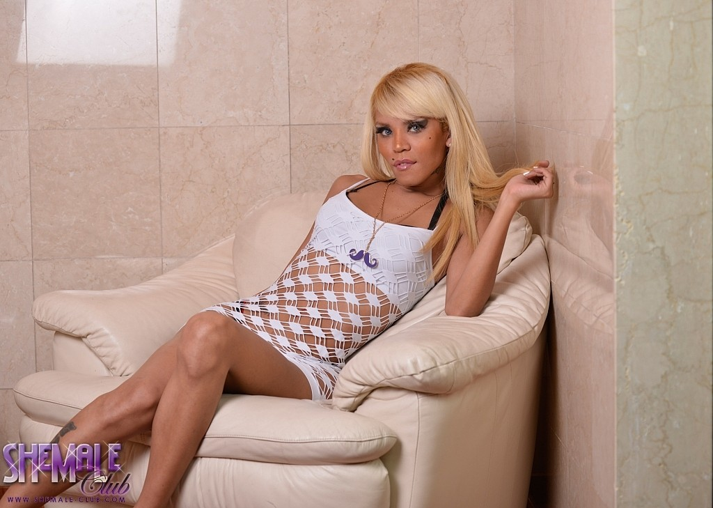 Vicky will mesmerize you in her lusty see thru dress showing her